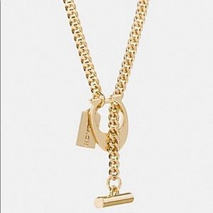 "Coach Signature ""C"" Toggle Necklace"